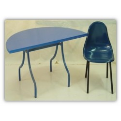 Table demi lune et chaise CH1