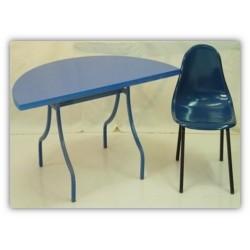 Table demi lune et chaise CH1