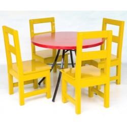 Jeu table ronde avec chaise
